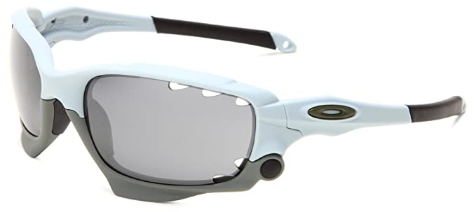 oakley racing jacket  oakley racing jacket oo9171 13 iridium wrap sunglasses,blue,62 mm