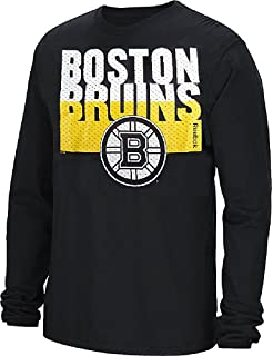 Amazon.com   Boston Bruins Faded Sweater Emblem Reebok Long Sleeve T ... e78ecebd1