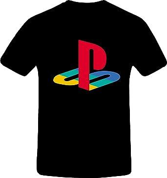 Amazon.com: PS1, Custom Tshirt (XS, Black)