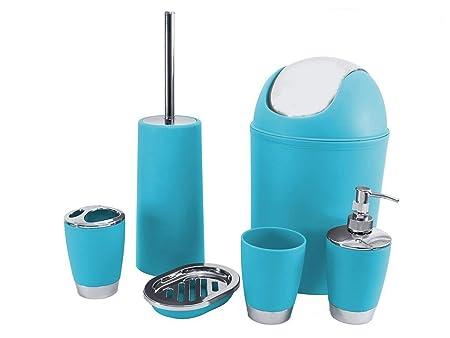 sq professional 6pc bathroom accessory set blue 26x20x20 cm amazon rh amazon co uk Navy Blue Bathroom Decor Aqua Bathroom Ideas