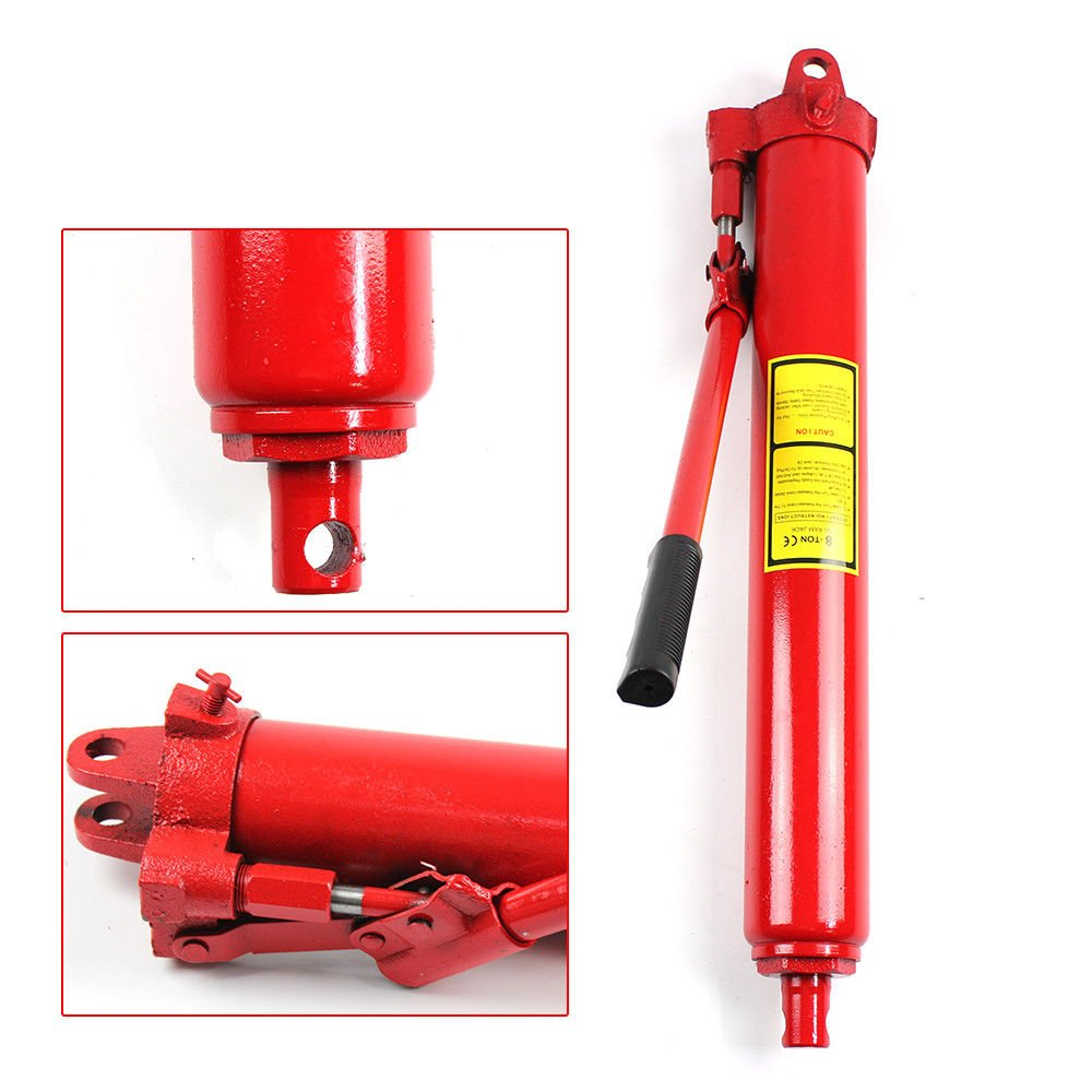 Hydraulic Long Stroke Ram Jack 8 Ton Capacity Engine Crane Jack by TBVECHI