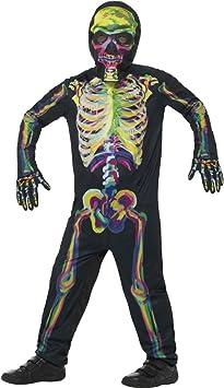 NET TOYS Disfraz Infantil Esqueleto Fluorescente - M, 7 - 9 años ...