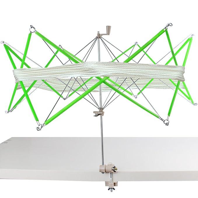 Ovilladora de Lana Devanadora de Hilo Bobinadora Manual Enrollador en Forma de Paraguas para Bobinar Hilados, Lanas, Lino,etc.: Amazon.es: Hogar