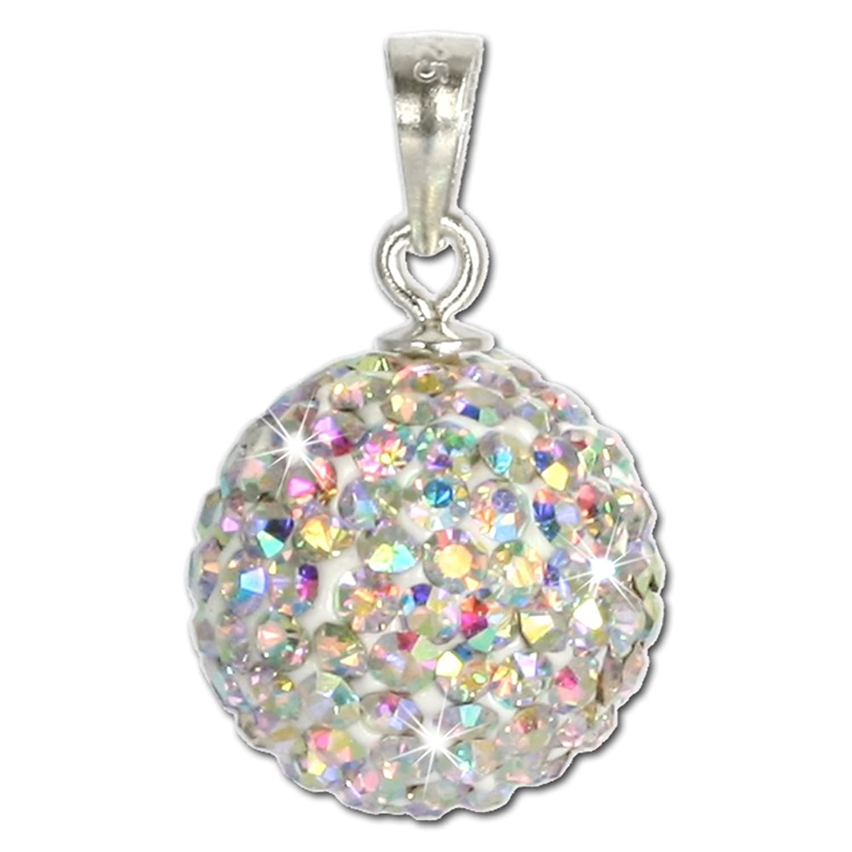 Kettenanhänger silber  SilberDream Glitzer Anhänger Swarovski Kristalle weiß Polarlicht ...