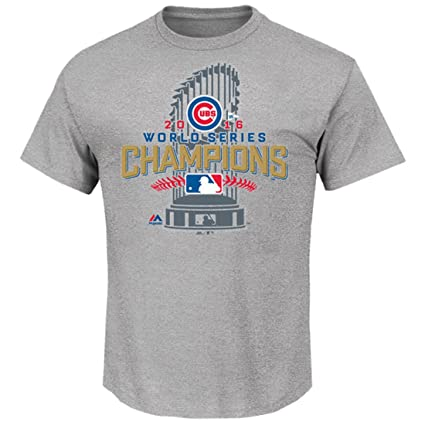 f074378e1 Image Unavailable. Image not available for. Color  Majestic Chicago Cubs  2016 World Series Champions Locker Room T-Shirt ...