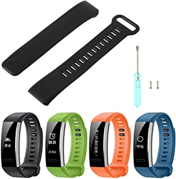 Hacloser Smart Watch Silicone Wrist Strap Band Replacement for Huawei Band 2/Band 2 pro Watch
