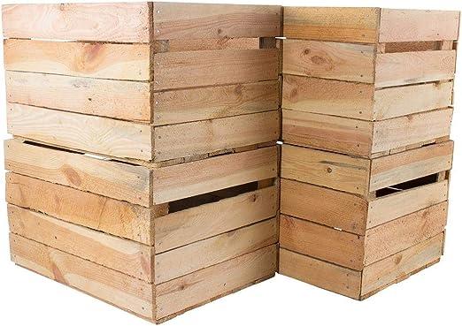 Weinkisten-Apfelkisten-Holzkiste 4 gebrauchte naturbelassene Obstkisten