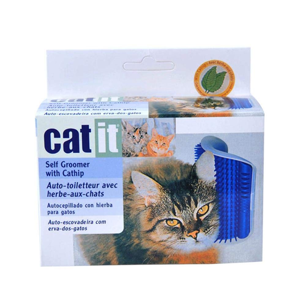 Amazon.com : AUOKER Cat Self Grooming Massage Brush Cat Scratcher Comb Toy with Catnip Pouch Kitten Massaging Wall Corner Mounted Massage Itching Tool for ...