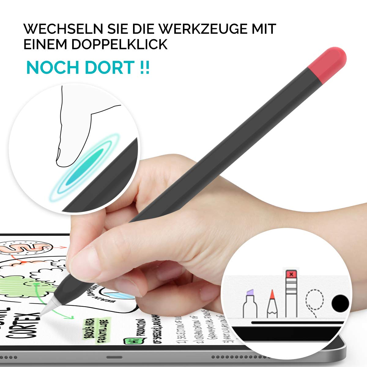 Generazione. AHASTYLE Apple Pencil 2 Custodia in Silicone Apple Pencil Case Ultra Sottile Apple Pencil Cover Compatibile con Apple Pencil 2