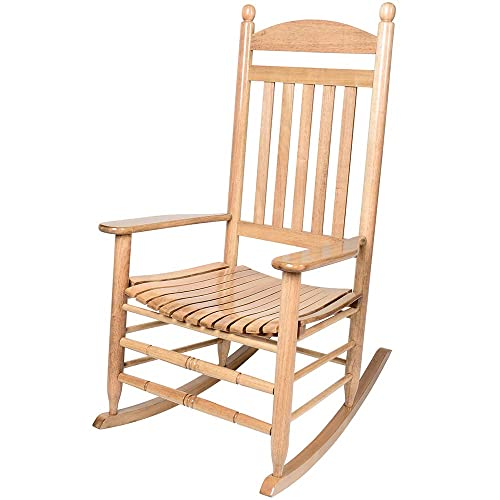 Deluxe Wide Adult Wooden Rocking Chair