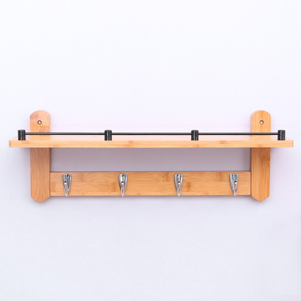 壁掛けコートラック、壁掛けコートフック、ベッドルームリビングルーム入り口シンプルでモダンな竹のシステム壁掛けコートラック。 56*20*12cm  B07GN6LFK1