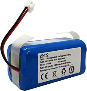 AnhoTech Replacement Battery Compatible with Shark Ion Battery RVBAT850 for RV850, RV871 Robot Vacuum, 2600mAh, 14.4v/14.8v