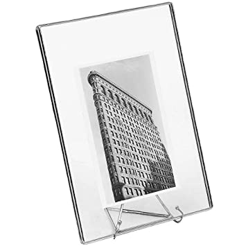 Amazon.com - The Original SILVER CLEAR GLASS Float 7x9/5x7 Frame by ...