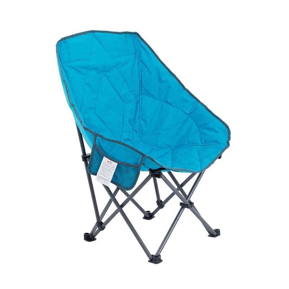 ベンチ 折りたたみチェアバックレストフォルダコットンソファムーンレジャーチェア怠惰な椅子寮の部屋屋外ホームキャンプポータブルバルコニーサンリクライニング (A++) (色 : 青) B07DKJLMRT  青