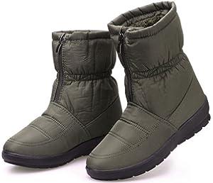 Amazon.com : Labato Style Women's Warm Waterproof Snow Boot Wide ...