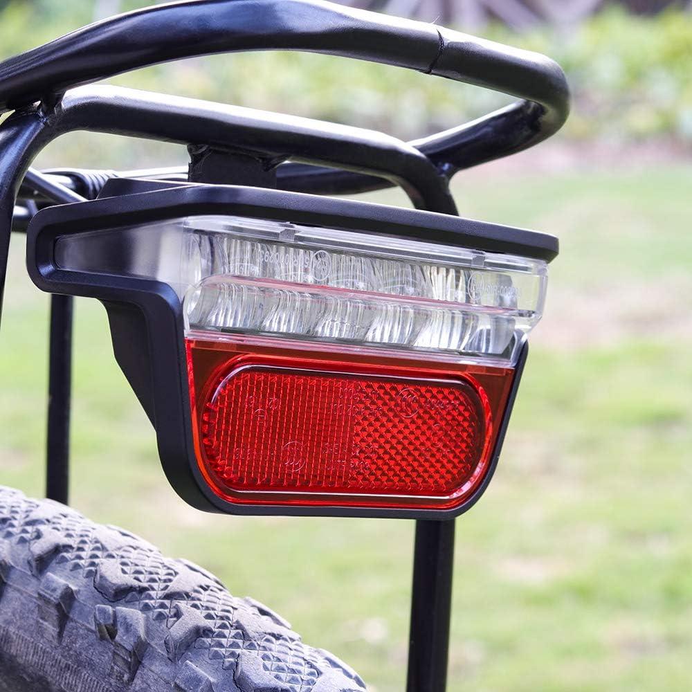 SHIJING Luz Onature Bicicleta eléctrica para Ebike Trasera DC 6V 12V 24V 36V 48V 60V Cola de la Bicicleta de Bicicletas eléctricas de luz Trasera Accesorios de Ciclismo