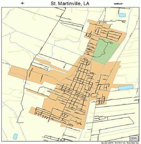 map of st martinville louisiana Amazon Com Large Street Road Map Of St Martinville Louisiana map of st martinville louisiana