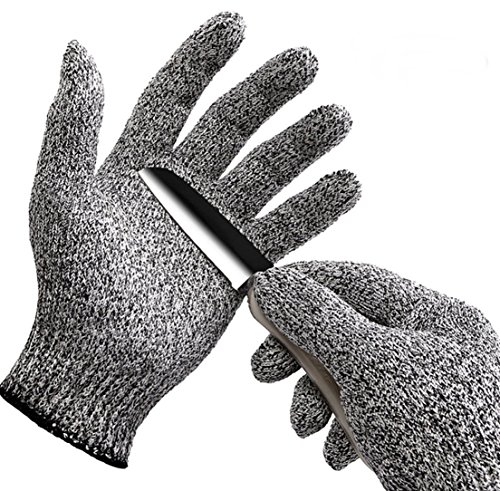 Mesh Infield Protector - 1 Sets (1 Pair) Foremost Popular Hot Stainless Steel Gloves Mesh Protector Anti-Knife Cut-Resistant Color Heather Grey Size XL