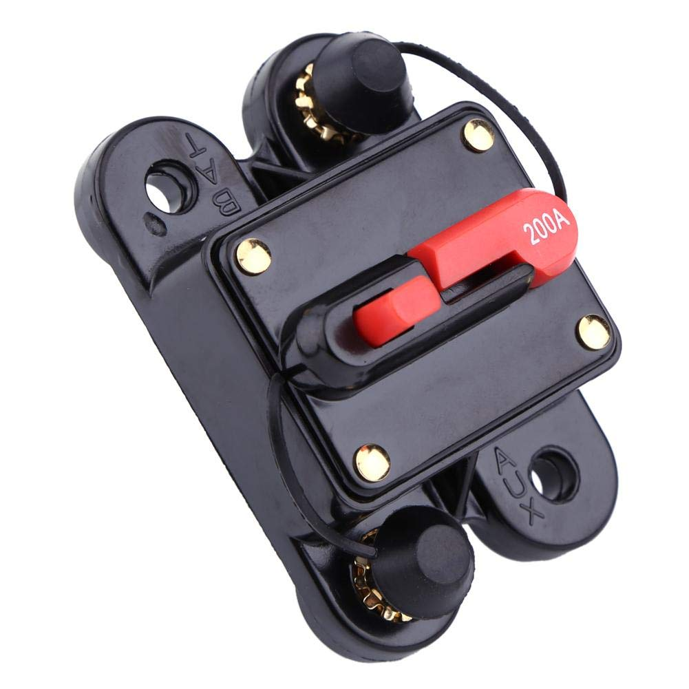 200A FTVOGUE DC12V Circuit Breaker Reset Fuse 80-300A for Car Marine Boat Bike Stereo Audio