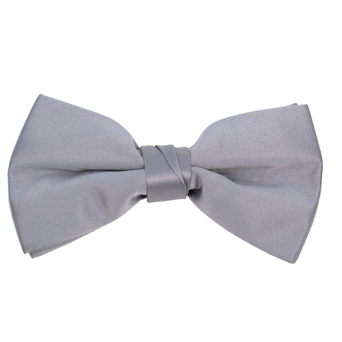 Kids Pre Tied Clip on Bow Tie-Gray
