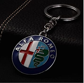 Llavero cromado con logo Alfa Romeo Deluxe en caja de regalo ...