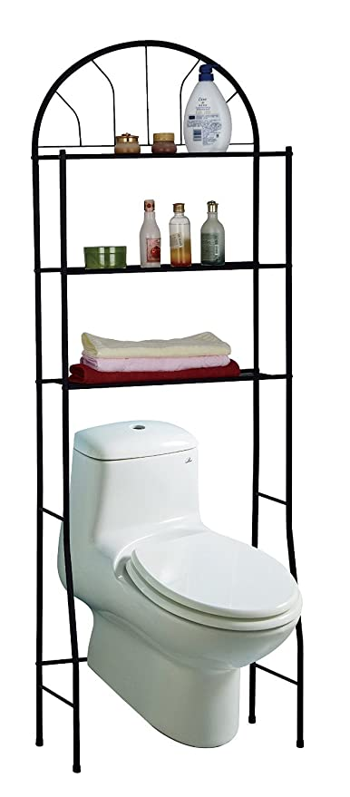 3 Shelves Space Saving Bathroom Shelving Unit, Over The Toilet Storage Rack