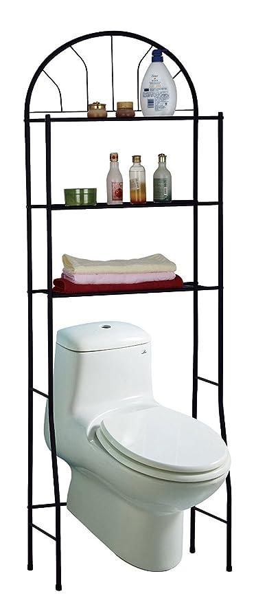 3 shelves spacesaving bathroom shelving unit over the toilet storage rack