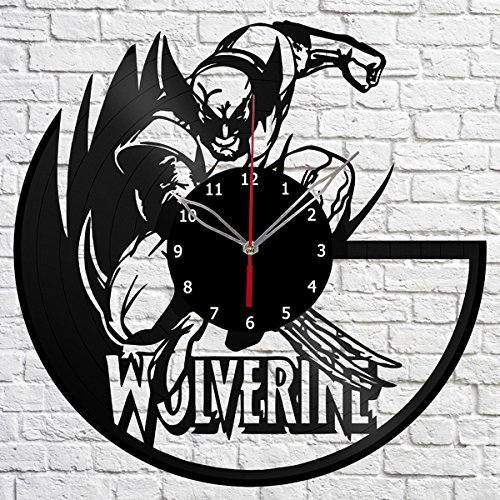 ForLovedGifts Wolverine Design Vinyl Wall Clock - Handmade Gift for Any Occasion - Unique Birthday, Wedding, Anniversary, Wall décor Ideas for Any Space