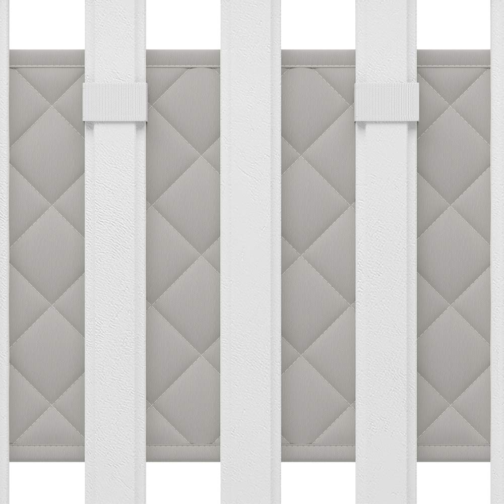 Sale KIDDOMORE Dove Gray Diamond Crib Bumper for Newborn Baby Boys and Girls Soft Cotton and Padded Breathable Rail Cover Standard Cribs Only Superb for Protecting Babies During Bedtime Sleep