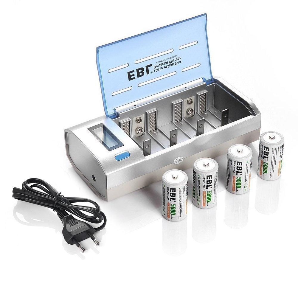 EBL 906 universal LCD Inteligente cargador rápido y ...