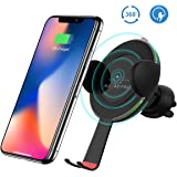 Wireless Car Charger,HOCO Wireless Fast Charge Air Vent Phone Holder Gravity Car Mount For Samsung Galaxy Note 8, S8/S8 Plus, S7/S7 Edge, iPhone X, iPhone 8/8 Plus ¡