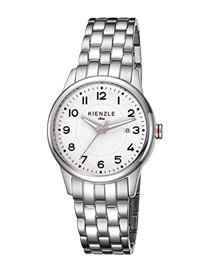 Kienzle K3042012112-00043 - Reloj analógico de cuarzo para mujer con correa de acero inoxidable