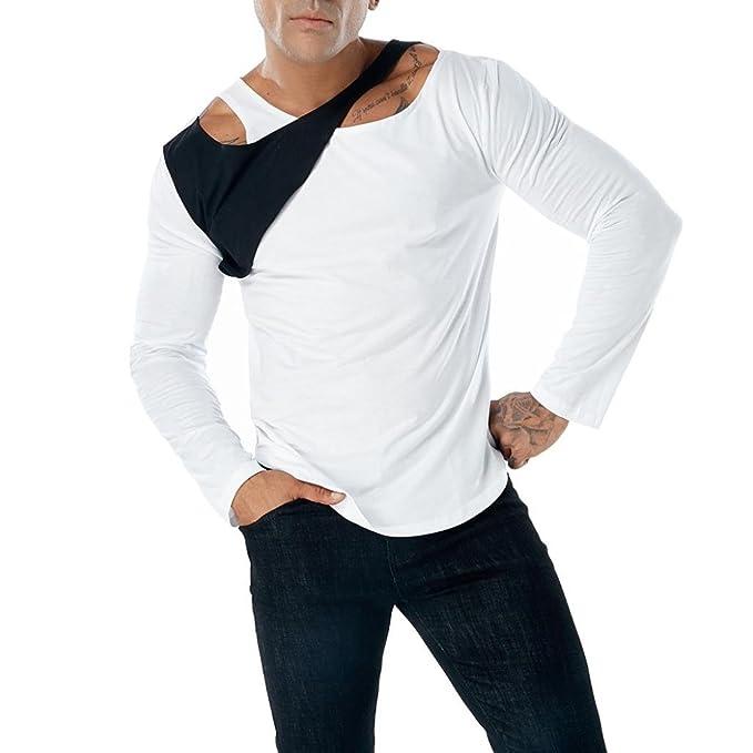 Resplend La Blusa Superior Delgada de Manga Larga de la Camiseta del Remiendo Ocasional de los