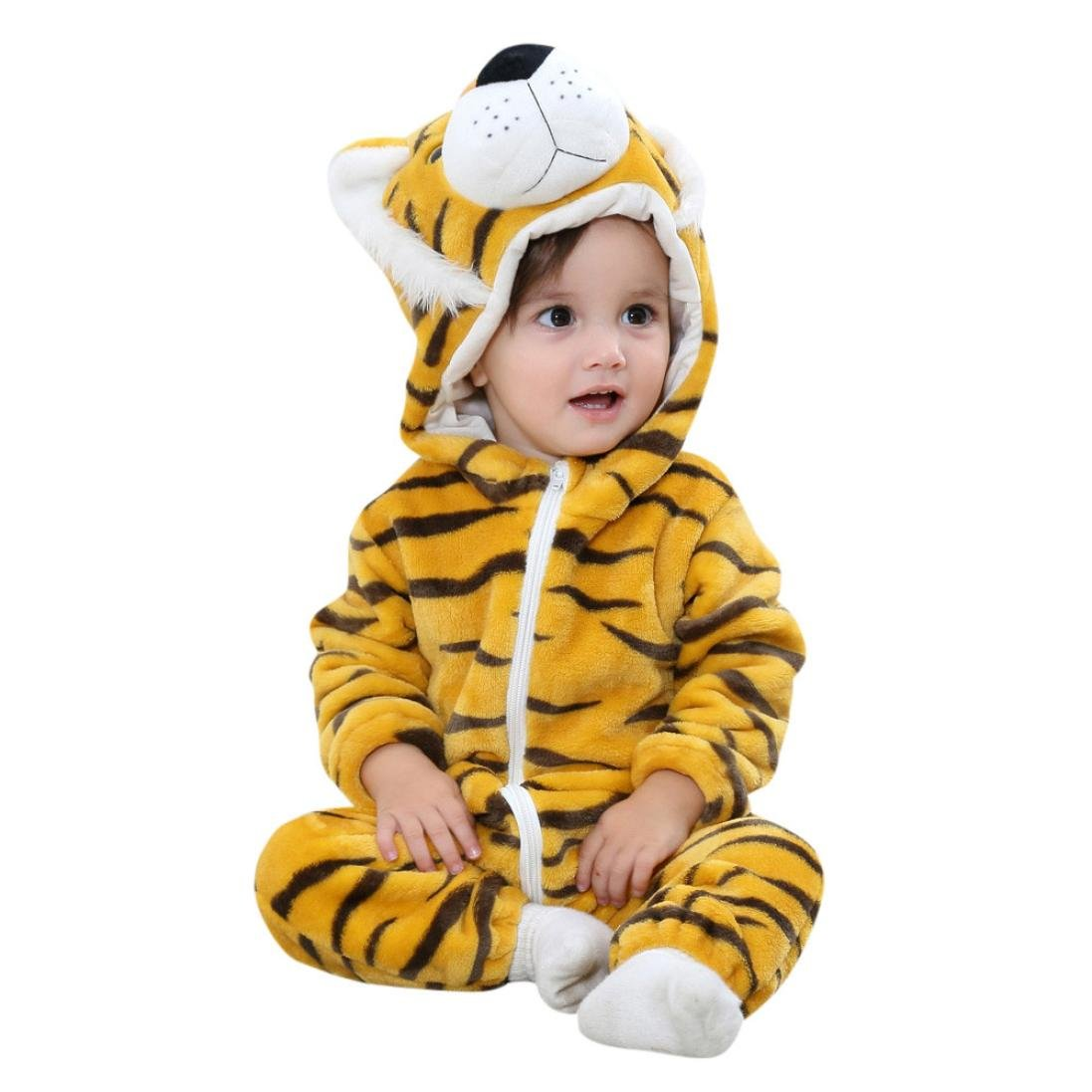 96e37af8d79e Amazon.com   Coohole Toddler Baby Boys Girls Animal Cartoon Pullover Hoodie Rompers  Outfits   Sports   Outdoors