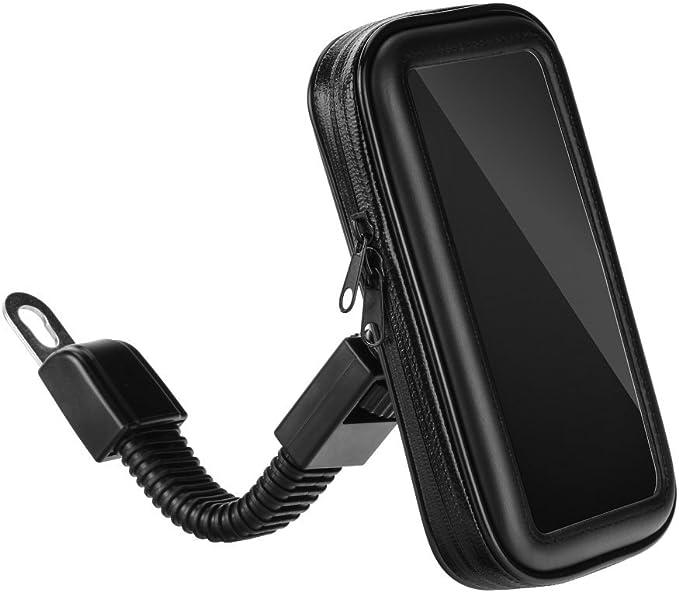 Partner Tele, Funda Teléfono Móvil, GPS, Smartphone para Moto, Scooter para El Espejo - Compatible con iPhone 6 Plus/7 Plus, Samsung Galaxy Note ...
