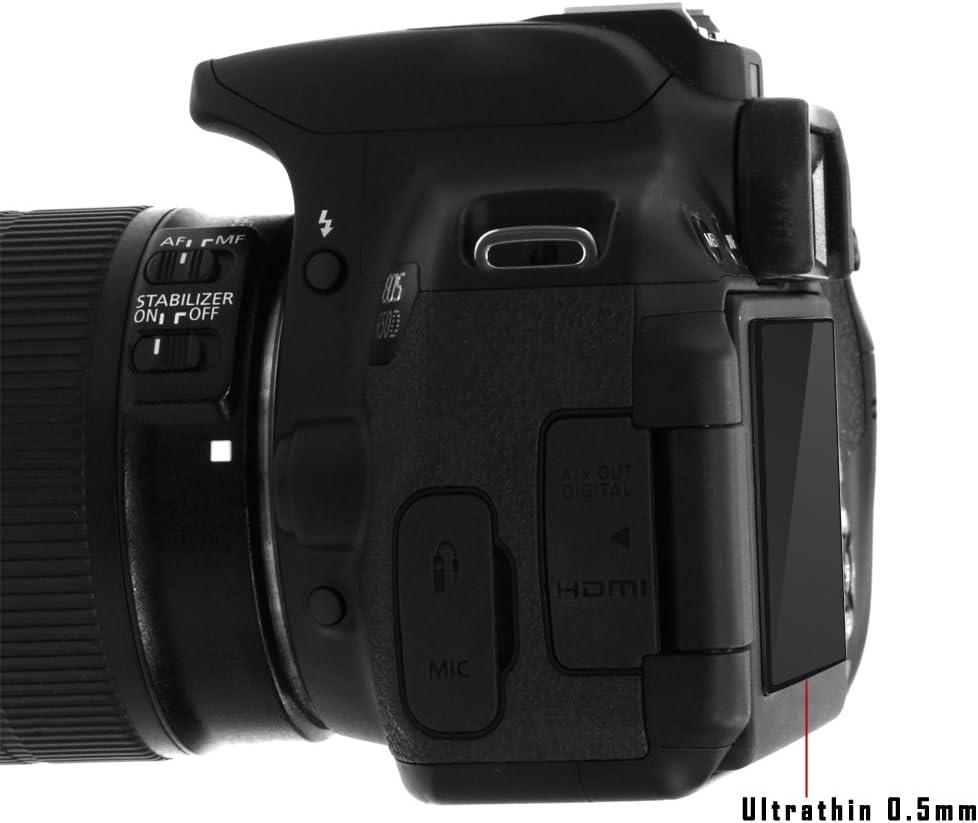 GGS LARMOR LCD Displayschutz Glas f/ür Canon EOS 7D Mark II 6 Schicht-Prinzip plus Schutzrahmen die vierte G - LCD-Echtglas-Protektor f/ür Canon EOS 7D Mark II