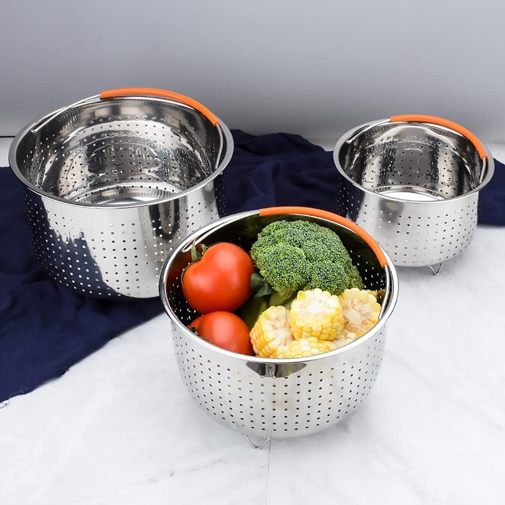 Scelet Acier Inoxydable Cuisson /à la Vapeur Panier 304 Acier Inoxydable Cuisine cuiseur Vapeur Multifonctionnel Panier de Nettoyage de Fruits et l/égumes