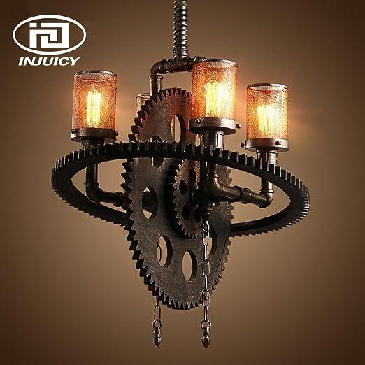 Amazon.com: injuicy iluminación industrial Loft Retro araña ...