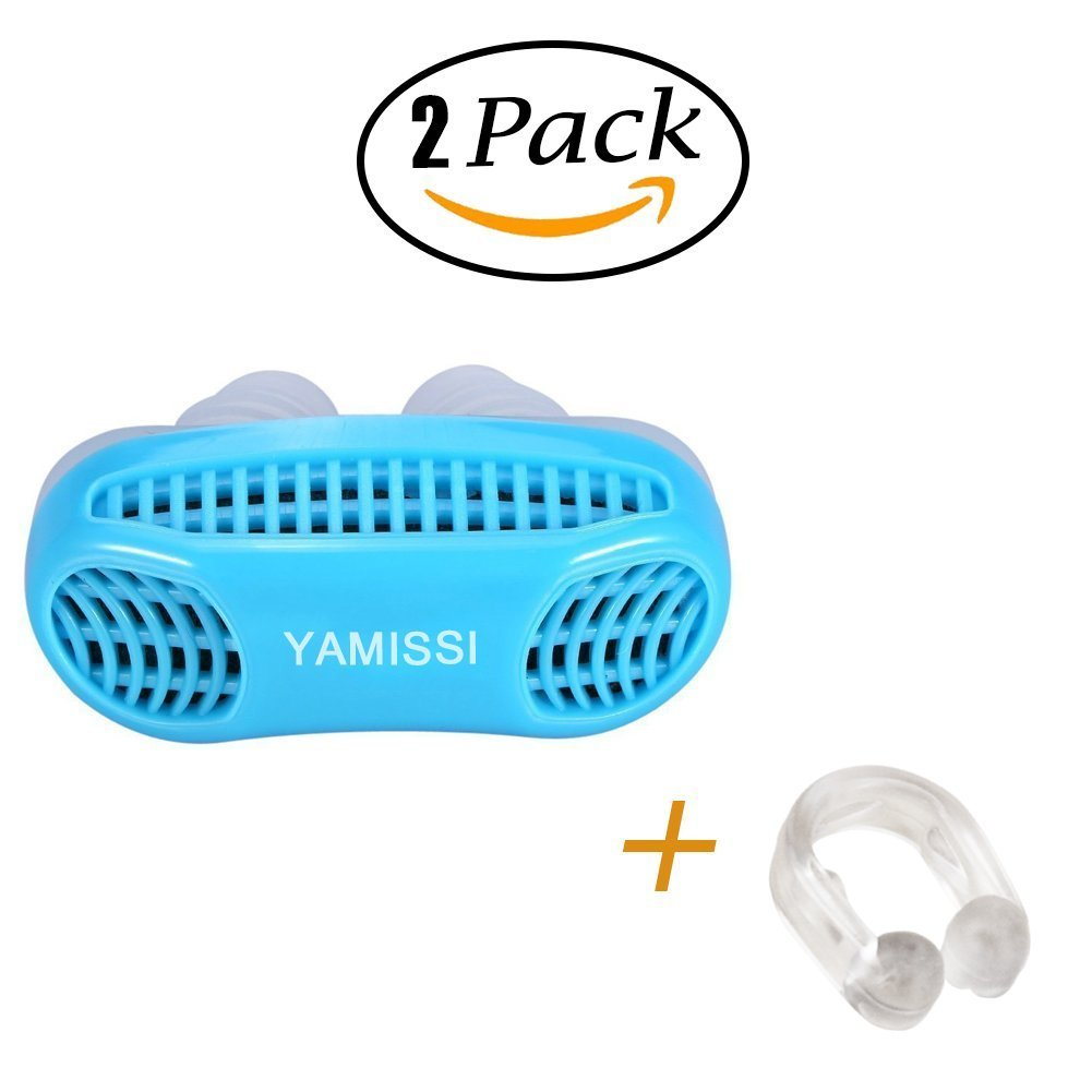 Anti-Snoring Device:Sleep Aid- 50% OFF SALE Airing,2 Pack of Silicone Air Purifier Filter Snore Stopper Device Chin Strap,Stop Snoring,Get the Restful Night you Deserve,with Travel Case -Yamissi by Yamissi (Image #8)
