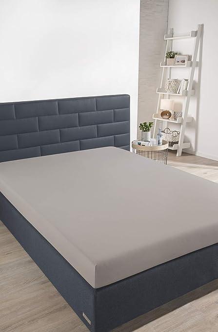 Schiesser sábana Bajera Ajustable, algodón, Plata, 200x150x30 cm: Amazon.es: Hogar