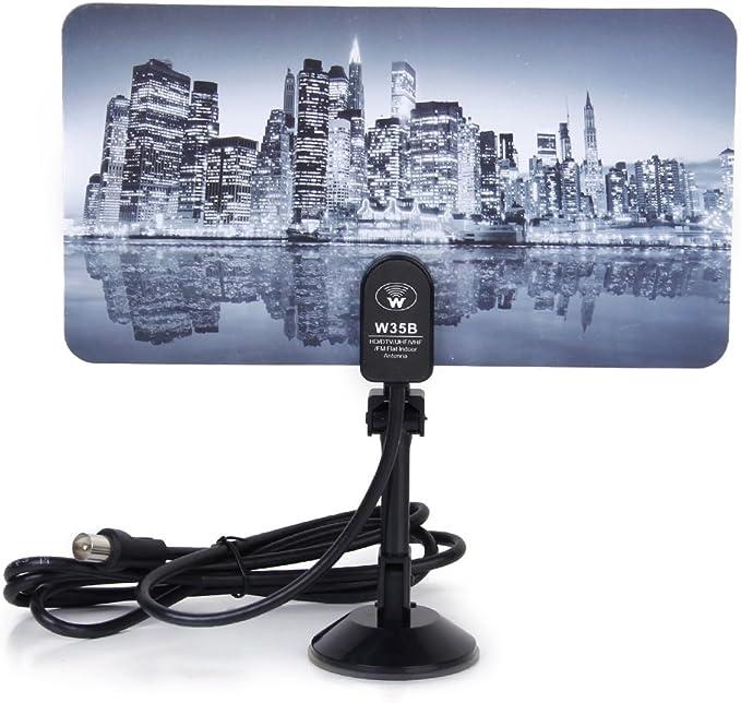 Digital TV 35dbi HD/DTV/UHF/VHF de Interior Antena Amplificador de señal Ciudad patrón