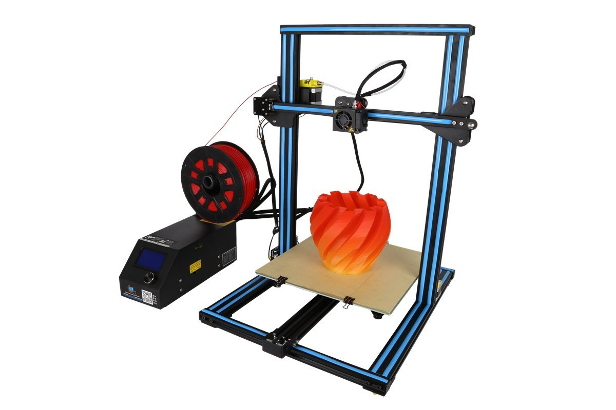 3D Printer CR 10S Blue Creality 3D Printer Updated Dual Z Axis 300/×300/×400mm Large Building Volume 0.05mm Cura PLA Free Filament /& Tool Box CR-10s