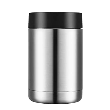 Homitt Stainless Steel Beer Coozies Beverage Can Cooler, Double Walled Vacuum Insulated Can Insulator for Standard 12 OZ Cans and Bottles, Keeps Drinks Ice Cold