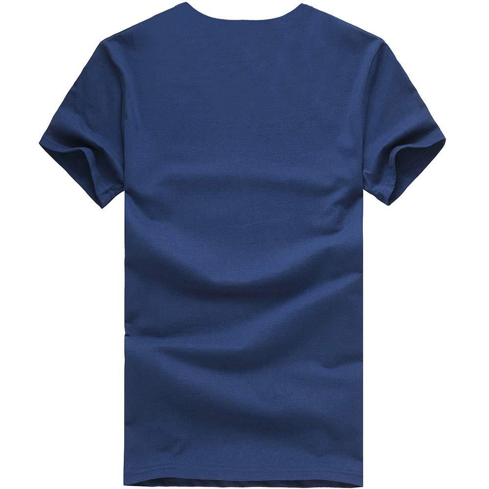 LEvifun Uomo Felpe Maniche Corte T-Shirt Fufo Stampa Animale O-Collo Sportivo Sportive Casual Estate Camicette Moda Camicetta Magliette Pullover Maglietta Tee Tops