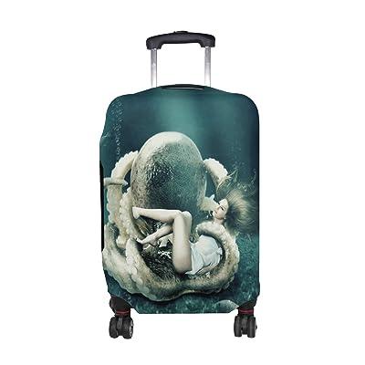 629688729c25 best DEYYA Octopus Girl Spandex Travel Luggage Cover Baggage ...