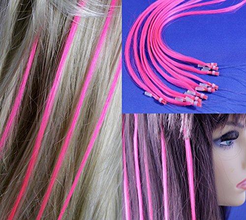 """18"""" Micro Rings Loop Human Hair Extensions /10 Strands/ Pink"""