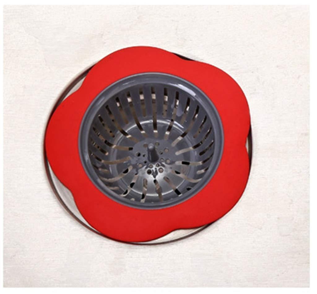 SGKJJ Floor Drain Creative Floor Drain Kitchen Sink Floor Drain Bathroom Sink Anti-Clogging Floor Drain -Floor Drain (Color : Red)