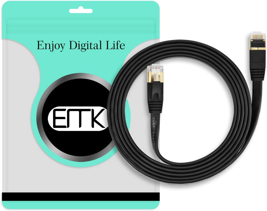 Ethernet Cable Laptop EMK CAT7 RJ45 LAN Network Patch Cable//Computer Internet Cable RJ45 Cords Shielded for Modem PC Xbox 65Ft//20Meters and More PS2 PS4 Black Mac Router PS3
