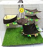 Brown Sugar Pet Store 5 piece Sugar Glider Angle Cushion Cage Set Dark Brown Color