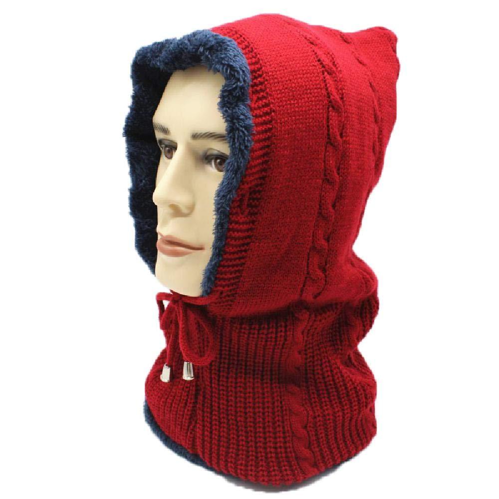 Elibone Winter Knitted Hat Scarf Skullies Beanies for Women Men Caps Gorras Bonnet Mask Hats